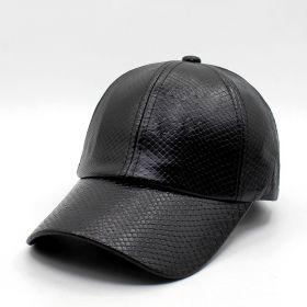 ANG-E kožená kšiltovka Krokodýl - černá