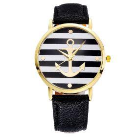 Dámské hodinky s kotvou tmavě modré