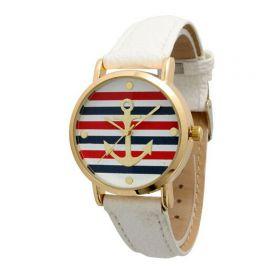 Dámské hodinky s kotvou červeno modré