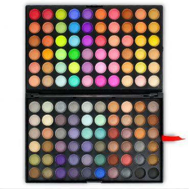 Rainbow paleta očních stínů 120 barev mix