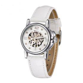 Dámské automatické hodinky Winner Elyse -bílé