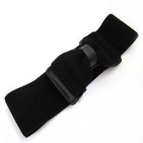 Elastický černý dámský pásek s přezkou
