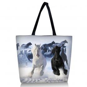 Huado nákupní a plážová taška - Koně