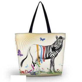 Huado nákupní a plážová taška - Zebra Fun