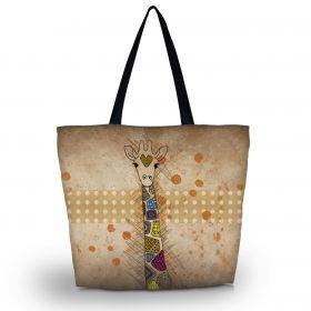 Huado nákupní a plážová taška - Barevná žirafa