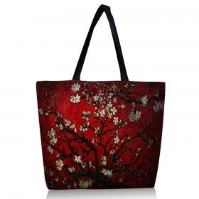 Huado nákupní a plážová taška - Červená třešeň