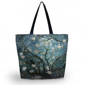 Huado nákupní a plážová taška - Modrá třešeň