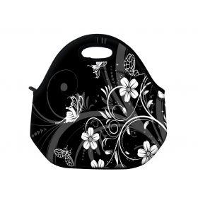 Huado termotaška z neoprénu- Květiny a motýlci
