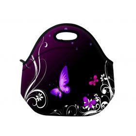Huado termotaška z neoprénu- Purpuroví motýlci