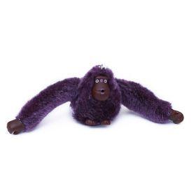 Přívěšek na kabelku na klíče orangutan fialový