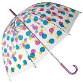 Dámský průhledný deštník Multikolor