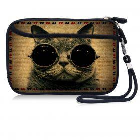Huado kosmetické pouzdro Kočka s brýlemi