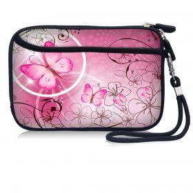 Huado kosmetické pouzdro Růžový motýl