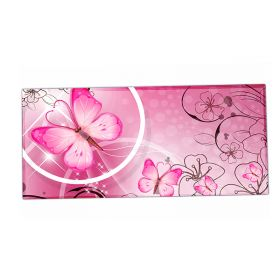 HUADO podložka na stůl 90 cm x 40 cm  Motýlek růžový