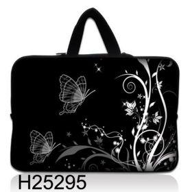 """Huado taška na notebook do 14.4"""" Černobílý motýlci"""