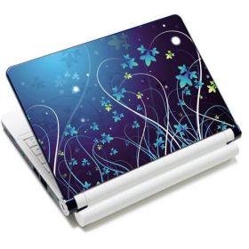 """Huado fólie na notebook 12""""-15,6"""" Modré květy"""