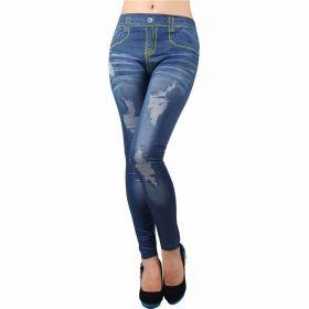 Dámské džínové Legíny jeans modré