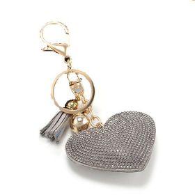 Přívěsek na kabelku klíčenka srdce