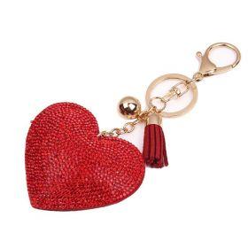 Přívěsek na kabelku klíčenka srdce červené