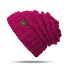 Beanie pletená čepice Růžová