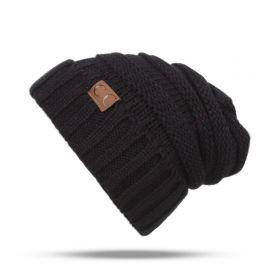 CC beanie pletená čepice Smurf Černá