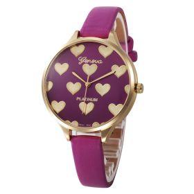 Geneva Dívčí hodinky se srdíčky Purple