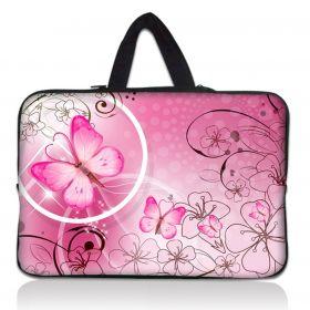 """Huado taška na notebook do 10.2"""" Motýlek růžový"""