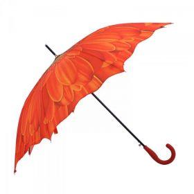 Dámský deštník slunečnice oranžový 82cm