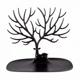 Lohas stojan na šperky černý jelen