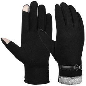 Dámské podzimní rukavice na dotykový displej