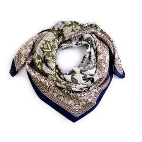Dámský šátek s ornamenty Paisley 70 cm Zelený