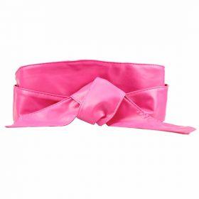 Dámský růžový široký pásek z umělé kůže