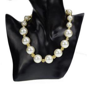 Perlový náhrdelník se zirkony Deborah