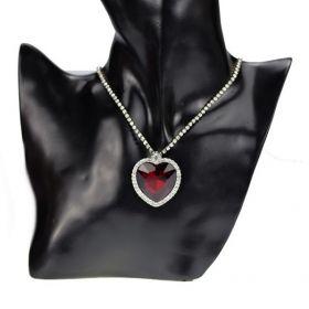 Náhrdelník TITANIC srdce oceánu červené srdce
