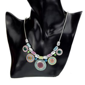 Kruhový Etno náhrdelník Color Ring