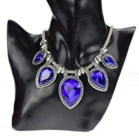 Náhrdelník s krystaly Modré slzy