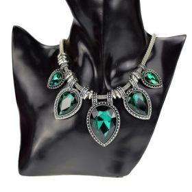 Náhrdelník s krystaly Zelené slzy