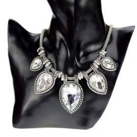 Náhrdelník s krystaly Drops Transparent