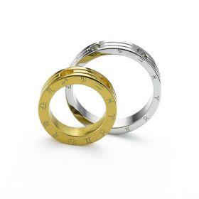 Ocelové přívěsky pro pár - Konstelace zlatý