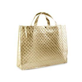 Mmetalická taška -zlatá 46 x 35 cm