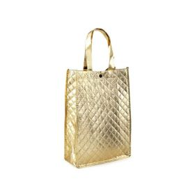 Mmetalická taška -zlatá 33 x 23 cm