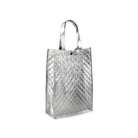 Mmetalická taška - stříbrná 33 x 23 cm