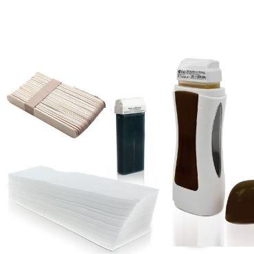 Single depilační sada s voskem a ohřívačem