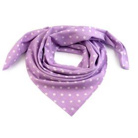 Dámský puntíkovany šátek 65 cm Violet