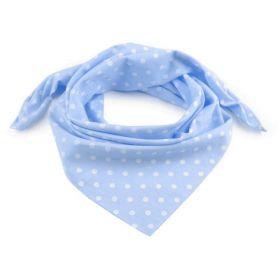 Dámský puntíkovany šátek 65 cm Modrý