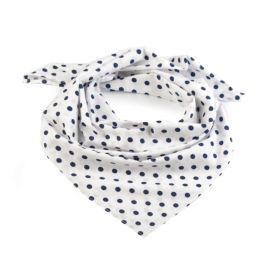 Dámský puntíkovany šátek 65 cm Bílý black