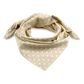 Dámský puntíkovany šátek 65 cm Hnědý