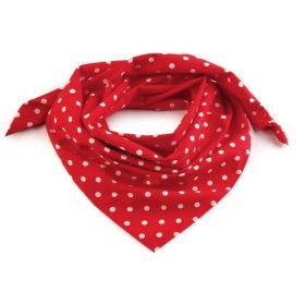 Dámský puntíkovany šátek 65 cm Červený white