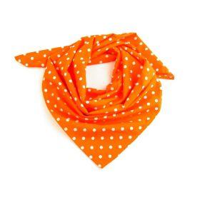 Dámský puntíkovany šátek 65 cm Oranžový