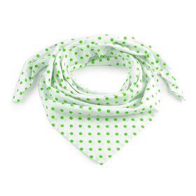 Dámský puntíkovany šátek 65 cm Bílý Green